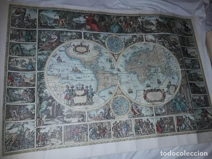 Coleccionismo de carteles: Precioso mapamundi en latín a colores reproducción año 1983 - Foto 24 - 148935442