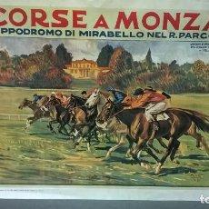 Coleccionismo de carteles: CARTEL.HIPODOMO DE MIRABELLO.FACSIMIL.MEDIDA 50X70.. Lote 148994790