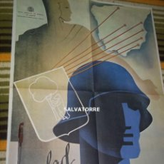Colecionismo de cartazes: GRAN CARTEL.POSTER.GUERRA CIVIL. AYUDAD A MADRID.REPUBLICA. FACSIMIL. 84 CM X 62 CM. Lote 149511298