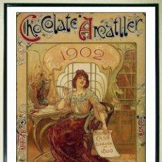 Collezionismo di affissi: LÁMINA VINTAGE - CHOCOLATE ANATLLER - BARCELONA AÑO 1902.(REPRODUCCION) TAMAÑO 45 X 30 CMS. Lote 150703314