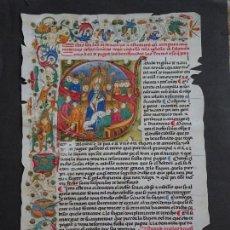 Colecionismo de cartazes: PERGAMINO RELIGIOSO FACSÍMIL REPRODUCCIÓN. ESTATUTOS ORDENANZAS IGLESIA. 29X22 CM. 33. Lote 151904782