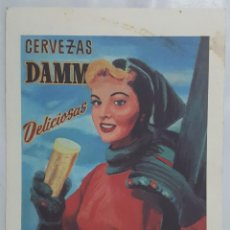 Coleccionismo de carteles: CARTEL PUBLICITARIO CERVEZAS DAMM (REPRODUCCION, EDICION ESCLUSIVA PARA DAMM BARS DICIEMBRE 2002). Lote 152690366