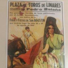 Colecionismo de cartazes: REPRODUCCION DEL CARTEL PLAZA DE TOROS LINARES, MUERTE DE MANOLETE. Lote 155999885