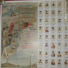 Collectionnisme d'affiches: CARTEL DE TOROS PLAZA DE BILBAO AGOSTO 1899 - TAUROMAQUIA SIGLO XIX - FACSIMIL. MEDIDAS 68X48 CM.. Lote 159161038