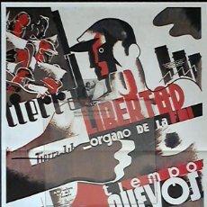 Colecionismo de cartazes: CG3 CARTEL FACSIMIL ANARQUISTA GUERRA CIVIL EKL TIERRA Y LIBERTAD ~ GRAN FORMATO. Lote 160698758