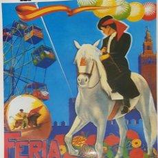 Coleccionismo de carteles: CARTEL (REPRODUCCIÓN) DE LA FERIA DE ABRIL EN SEVILLA DEL AÑO 1955. Lote 162968954