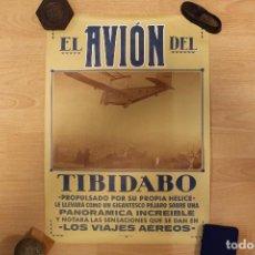 Coleccionismo de carteles: TIBIDABO PÓSTER DE LOS AÑOS 60, REPRODUCCIÓN DEL ORIGINAL, 59X43 CM. Lote 166674454