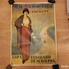 Coleccionismo de carteles: PÓSTER REAL AUTOMÓVIL CLUB DE CATALUNYA, SEIX BARRAL, REPRODUCCIÓN DEL ORIGINAL 1914, 1MX70 CM. Lote 166675942