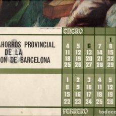 Coleccionismo de carteles: CALENDARIO 1971 -.CAJA DE AHORROS DE BARCELONA - 6 HOJAS CON REPRODUCCIONES DE CUADROS. Lote 167774912
