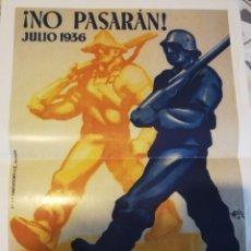 Coleccionismo de carteles: 5 CARTELES DE LA GUERRA CIVIL ESPAÑOLA - REPRODUCCIONES. Lote 172009637