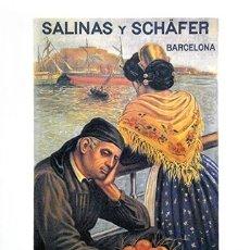Colecionismo de cartazes: REPRODUCCION CARTEL PUBLICITARIO DE BARCO A COLOR. SALINAS Y SCHALER, BARCELONA - CARTELBARCO-22. Lote 172691153