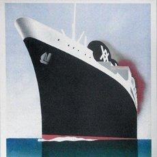 Collectionnisme d'affiches: REPRODUCCION CARTEL PUBLICITARIO DE BARCO A COLOR. YBARRA Y CIA. S. EN C. LINEA MEDITERRANEO…. Lote 213144175