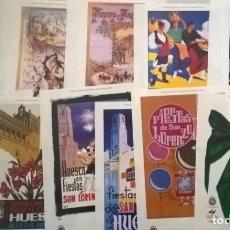 Coleccionismo de carteles: LOTE 11 REPRODUCCIONES CARTELES OFICIALES FIESTAS SAN LORENZO - HUESCA - AÑOS 1893 A 1998. Lote 174110882
