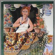 Collezionismo di affissi: REPRODUCCIÓN CARTEL FERIA DE MALAGA AGOSTO 2005. 28,5 X 19,5CM. - LAMI-053,4. Lote 176081282