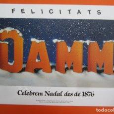 Coleccionismo de carteles: CARTEL PUBLICITARIO CERVEZAS DAMM . REPRODUCCION . 29,5 X 21 CM. AÑO 2001. Lote 177959507