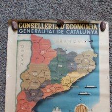 Coleccionismo de carteles: PÓSTER REGIONS I COMARQUES DE CATALUNYA 1936. REPRODUCCION CONGRES CULTURA CATALANA 1976. Lote 178556927