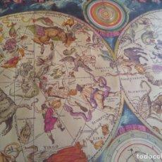 Coleccionismo de carteles: REPRODUCCION PLANISPHAERIUM CELESTE - LAMINA SIGLO XVII - SIMBOLOGIA ASTROLOGICA - TAMAÑO 100X68. Lote 181989250