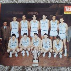 Coleccionismo de carteles: POSTER CARTEL REAL MADRID CAMPEÓN EUROPA BALONCESTO 1967 EL ALCAZAR. Lote 182687025