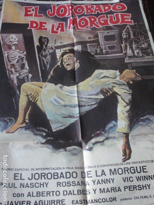 PAUL NASCHY EL JOROBADO DE LA MORGUE - 100 X 70 CMS - ENVIO GRATIS - CARTEL ORIGINAL (Coleccionismo - Reproducciones de carteles)