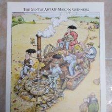 Coleccionismo de carteles: LÁMINAS GUINNESS TITULADAS THE GENTLE ART OF MAKING GUINNESS ( 12 EN TOTAL ). Lote 182870117