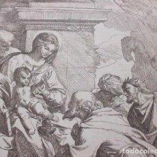 Coleccionismo de carteles: LA ADORACIÓN DE LOS REYES MAGOS. REPRODUCCIÓN DE UN GRABADO DE CARLO MARATTA (SIGLO XVII-XVIII). Lote 183622638