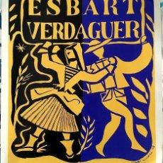 Coleccionismo de carteles: CARTEL DE ALEXANDRE CIRICI I PELLICER ESBART VERDAGUER (69.5X82CM). Lote 184253122