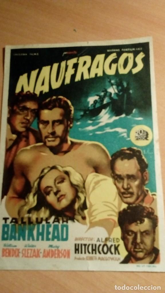 Coleccionismo de carteles: Publicidad de mano cine película de Hitchcock - Foto 2 - 184382212