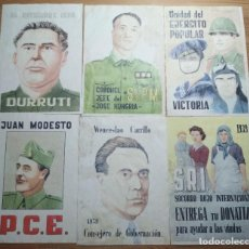 Coleccionismo de carteles: LOTE DE SEIS CROMOS/REPRODUCCIONES DE CARTELES DE LA GUERRA CIVIL Y POSTGUERRA (DÉCADA DE 1960-1970). Lote 187226917