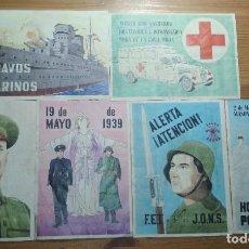 Coleccionismo de carteles: LOTE DE SEIS CROMOS/REPRODUCCIONES DE CARTELES DE LA GUERRA CIVIL Y POSTGUERRA (DÉCADA DE 1960-1970). Lote 187226921