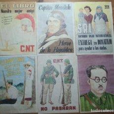 Coleccionismo de carteles: LOTE DE SEIS CROMOS/REPRODUCCIONES DE CARTELES DE LA GUERRA CIVIL Y POSTGUERRA (DÉCADA DE 1960-1970). Lote 187226935