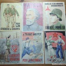 Coleccionismo de carteles: LOTE DE SEIS CROMOS/REPRODUCCIONES DE CARTELES DE LA GUERRA CIVIL Y POSTGUERRA (DÉCADA DE 1960-1970). Lote 187226942