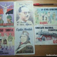 Coleccionismo de carteles: LOTE DE SEIS CROMOS/REPRODUCCIONES DE CARTELES DE LA GUERRA CIVIL Y POSTGUERRA (DÉCADA DE 1960-1970). Lote 187226975