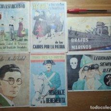 Coleccionismo de carteles: LOTE DE SEIS CROMOS/REPRODUCCIONES DE CARTELES DE LA GUERRA CIVIL Y POSTGUERRA (DÉCADA DE 1960-1970). Lote 187226986