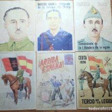 Coleccionismo de carteles: LOTE DE SEIS CROMOS/REPRODUCCIONES DE CARTELES DE LA GUERRA CIVIL Y POSTGUERRA (DÉCADA DE 1960-1970). Lote 187226997