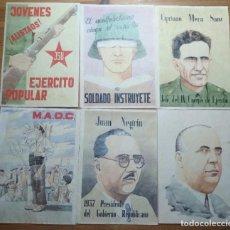 Coleccionismo de carteles: LOTE DE SEIS CROMOS/REPRODUCCIONES DE CARTELES DE LA GUERRA CIVIL Y POSTGUERRA (DÉCADA DE 1960-1970). Lote 187227012