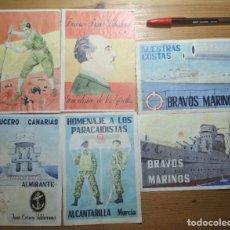 Coleccionismo de carteles: LOTE DE SEIS CROMOS/REPRODUCCIONES DE CARTELES DE LA GUERRA CIVIL Y POSTGUERRA (DÉCADA DE 1960-1970). Lote 187227027