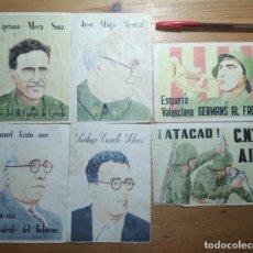 Coleccionismo de carteles: LOTE DE SEIS CROMOS/REPRODUCCIONES DE CARTELES DE LA GUERRA CIVIL Y POSTGUERRA (DÉCADA DE 1960-1970). Lote 187227041