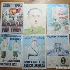 Coleccionismo de carteles: LOTE DE SEIS CROMOS/REPRODUCCIONES DE CARTELES DE LA GUERRA CIVIL Y POSTGUERRA (DÉCADA DE 1960-1970). Lote 187227086
