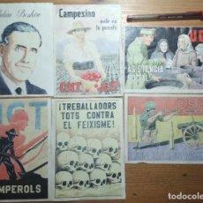 Coleccionismo de carteles: LOTE DE SEIS CROMOS/REPRODUCCIONES DE CARTELES DE LA GUERRA CIVIL Y POSTGUERRA (DÉCADA DE 1960-1970). Lote 187227106