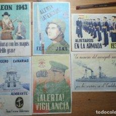 Coleccionismo de carteles: LOTE DE SEIS CROMOS/REPRODUCCIONES DE CARTELES DE LA GUERRA CIVIL Y POSTGUERRA (DÉCADA DE 1960-1970). Lote 187227121