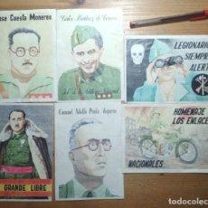 Coleccionismo de carteles: LOTE DE SEIS CROMOS/REPRODUCCIONES DE CARTELES DE LA GUERRA CIVIL Y POSTGUERRA (DÉCADA DE 1960-1970). Lote 187227215