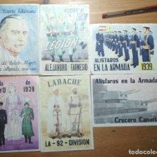 Coleccionismo de carteles: LOTE DE SEIS CROMOS/REPRODUCCIONES DE CARTELES DE LA GUERRA CIVIL Y POSTGUERRA (DÉCADA DE 1960-1970). Lote 187227228