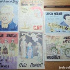 Coleccionismo de carteles: LOTE DE SEIS CROMOS/REPRODUCCIONES DE CARTELES DE LA GUERRA CIVIL Y POSTGUERRA (DÉCADA DE 1960-1970). Lote 187227240