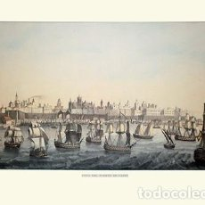 Collectionnisme d'affiches: LITOGRAFIA (REPRODUCCION). VISTA DEL PUERTO DE CADIZ. - REPLIT-019. Lote 11950735