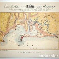 Collectionnisme d'affiches: LITOGRAFIA (REPRODUCCION). CARTA MARITIMA DE LA BAHIA DE CADIZ POR VICENTE TOFIÑO - REPLIT-025. Lote 187587315