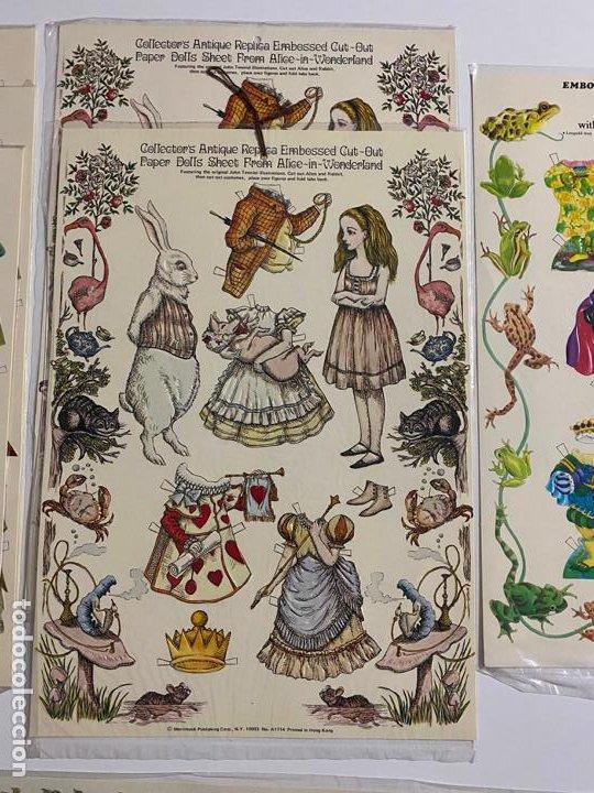 Coleccionismo de carteles: ANTIQUE PAPER CUTOUT DOLL & CLOTHES , RECORTABLES , SHACKMAN . 1977 . - Foto 2 - 188646938