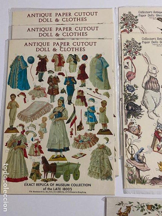 Coleccionismo de carteles: ANTIQUE PAPER CUTOUT DOLL & CLOTHES , RECORTABLES , SHACKMAN . 1977 . - Foto 4 - 188646938