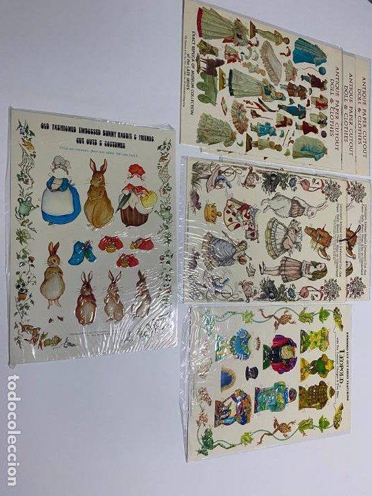 Coleccionismo de carteles: ANTIQUE PAPER CUTOUT DOLL & CLOTHES , RECORTABLES , SHACKMAN . 1977 . - Foto 6 - 188646938