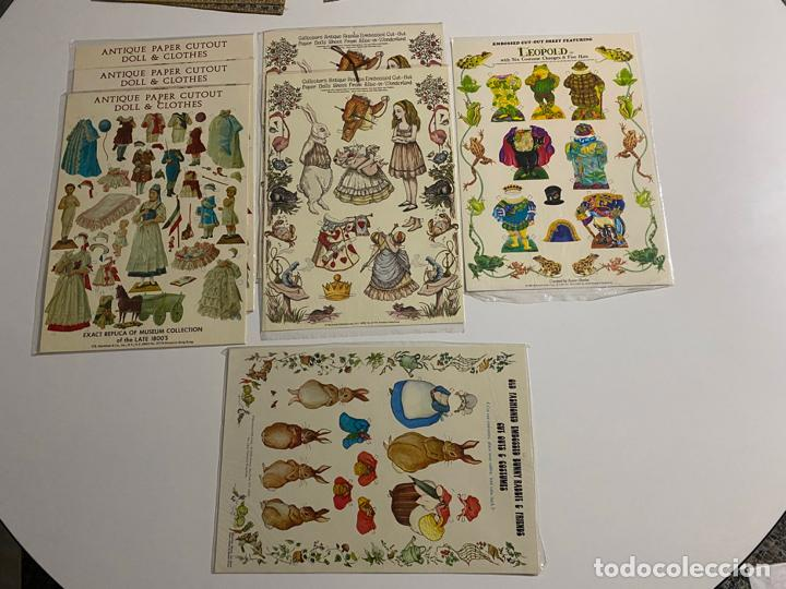 Coleccionismo de carteles: ANTIQUE PAPER CUTOUT DOLL & CLOTHES , RECORTABLES , SHACKMAN . 1977 . - Foto 7 - 188646938