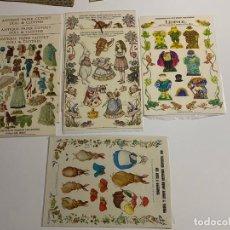 Coleccionismo de carteles: ANTIQUE PAPER CUTOUT DOLL & CLOTHES , RECORTABLES , SHACKMAN . 1977 .. Lote 188646938